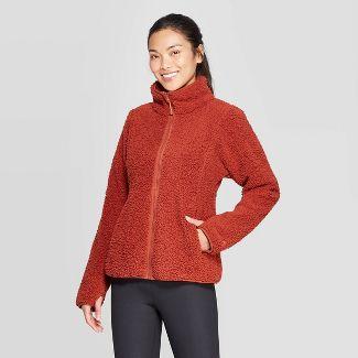 Women's Sherpa Fleece Jacket - C9 Champion® Rust L
