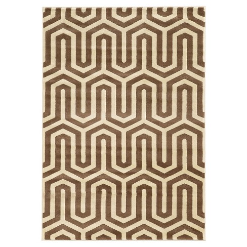 Roma Tangent Accent Rug - Ivory / Beige (2' X 3') - image 1 of 1