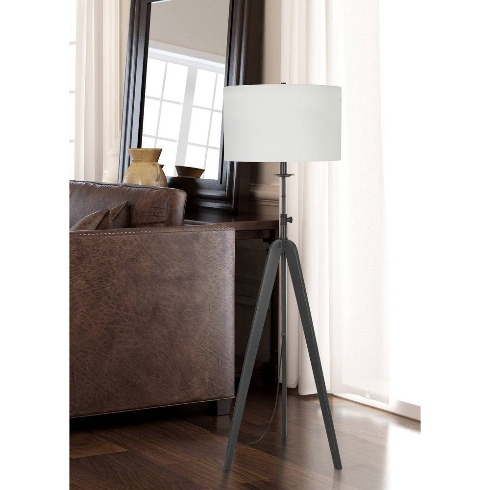 Image of 150W 3 Way Pratt Metal Tripod Floor Lamp Oil Rubbed Bronze - Cal Lighting