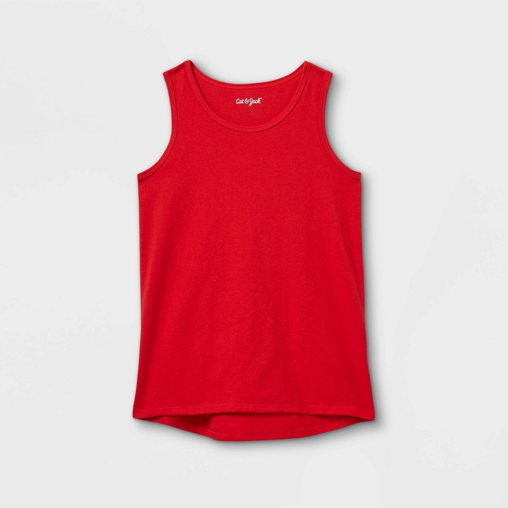 Girls 39 Solid Tank Top Cat 38 Jack 8482 Red L