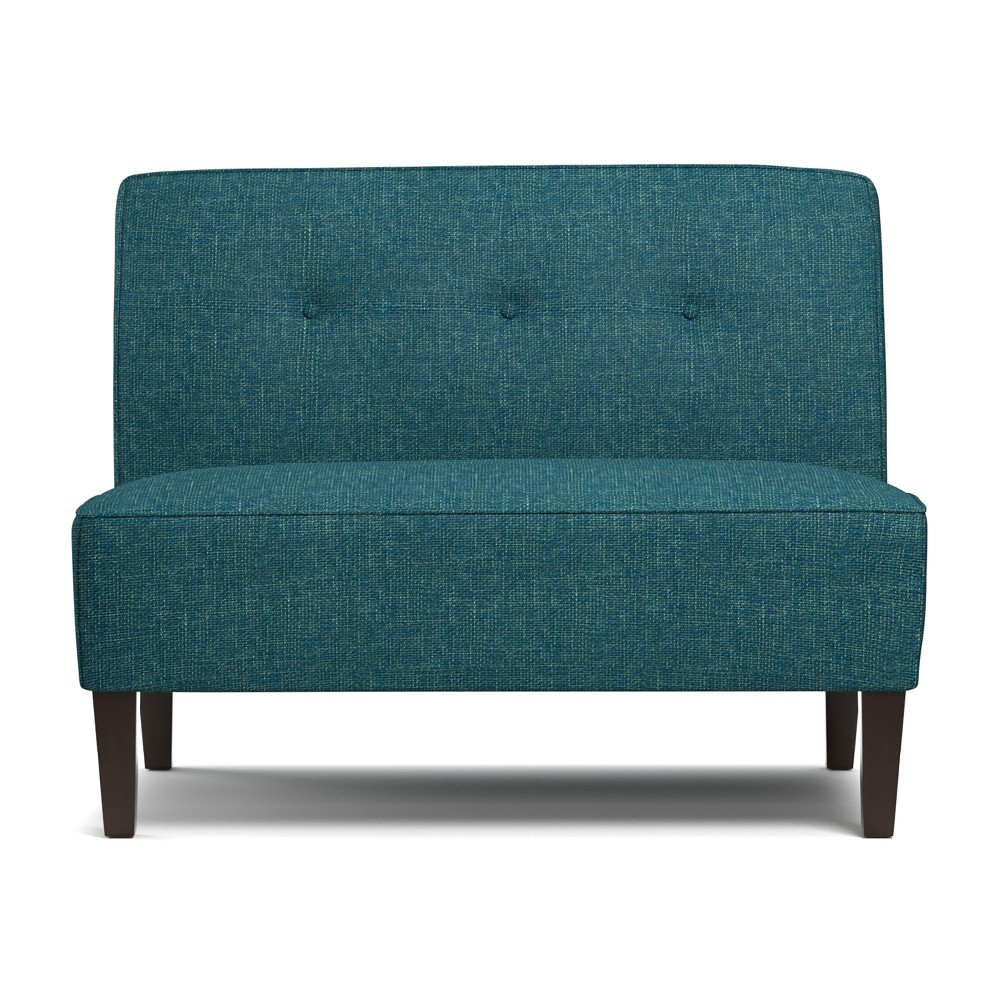 Bryce Button Tufted Settee - Blue - Handy Living