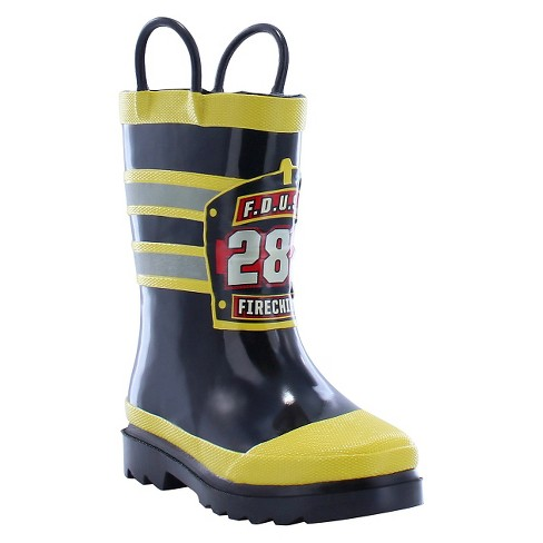 Toddler Boy F.D.U.S.A. Firechief Rain Boot Black - Western Chief - image 1 of 1