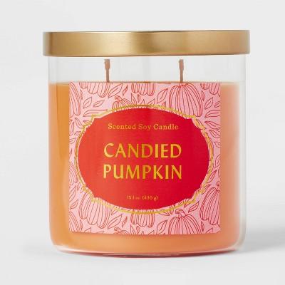 Lidded Glass Jar Candied Pumpkin Candle - Opalhouse™