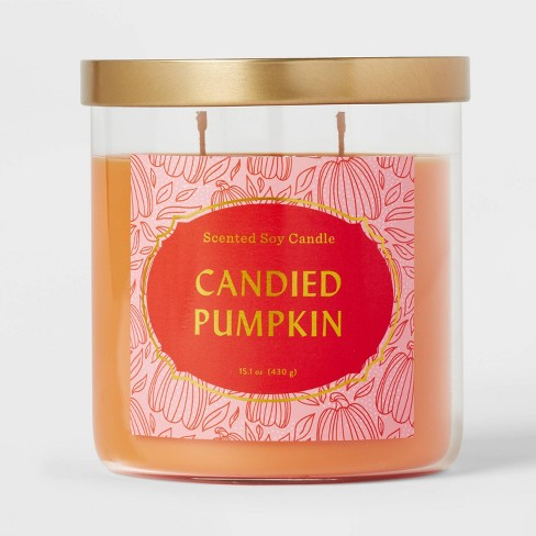 Lidded Glass Jar Candied Pumpkin Candle - Opalhouse™ - image 1 of 3
