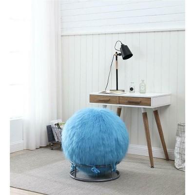 GoodGram Premium Posture Fuzzy Yoga Exercise Ball & Chair Set