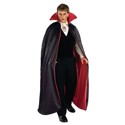 Adult Lined Vampire Cape Costume Red Black   Target 8a8777cd84168