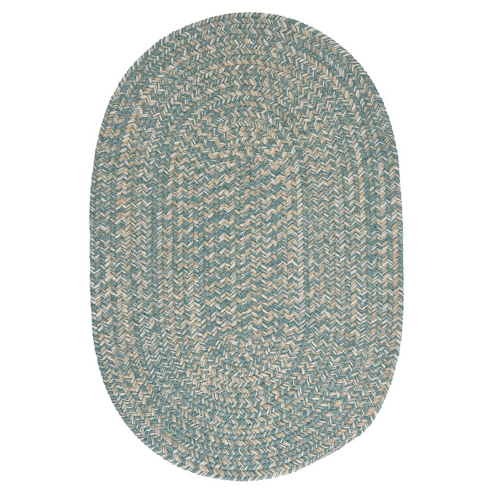 Tremont Braided Area Rug - Teal (Blue) - (7'x9') - Colonial Mills