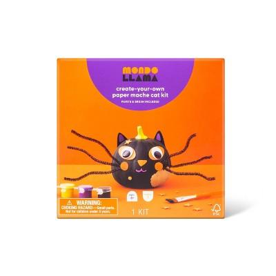 Paper Mache Pumpkin Craft Kit Cat - Mondo Llama™