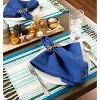 Set of 6 Tidal Stripe Fringed Placemat Blue - Design Imports - image 4 of 4