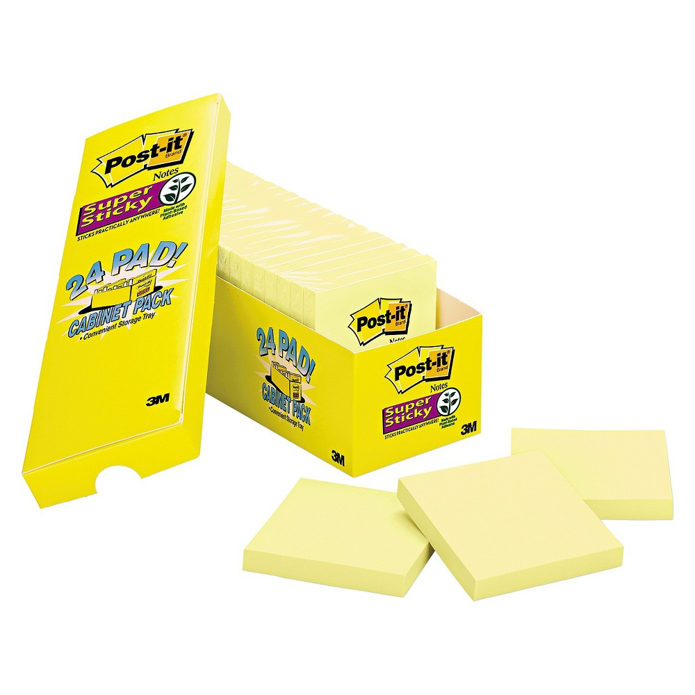 Post-it Post - it Notes Super Sticky Notes - 3 x 3 - Canary Yellow (90 Sheet Pads Per Pack)
