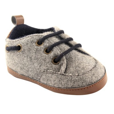 Luvable Friends Baby Boy Crib Shoes, Charcoal