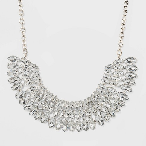 SUGARFIX by BaubleBar Stacked Crystal Statement Necklace - image 1 of 2