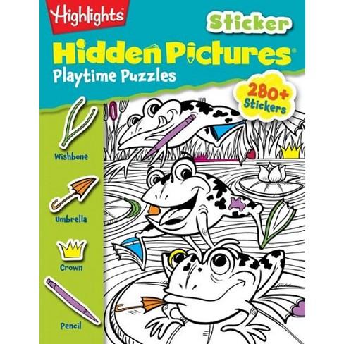 Highlights Sticker Hidden Pictures Playt Hightlights Paperback