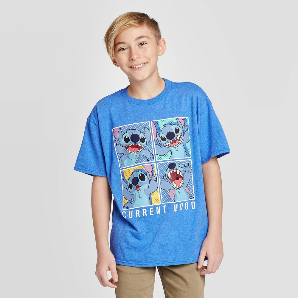 Image of Boys' BB Stitch Do What I Want T-Shirt - Blue L, Boy's, Size: Large