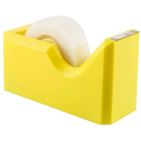 JAM Paper Colorful Desk Tape Dispensers - Yellow - image 1 of 4