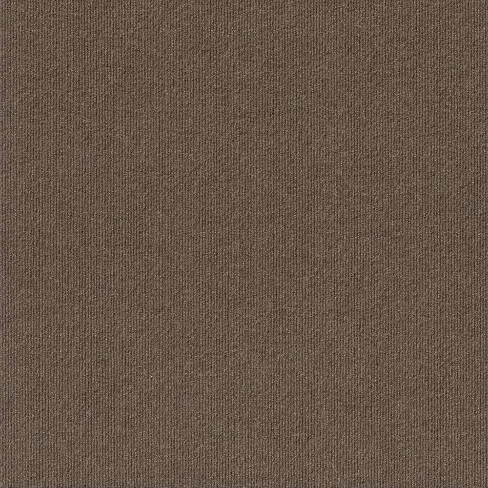 24 15pk Ribbed Carpet Tiles Espresso (Brown) - Foss Floors