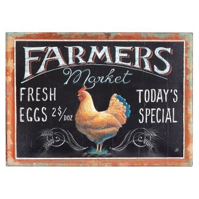 Farmers Market Tin Embossed Wall Décor - 3R Studios