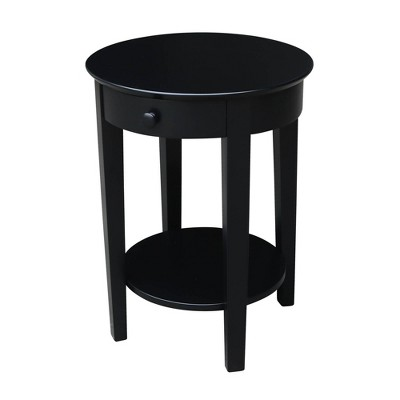 Phillips Accent Table with Drawer Black - International Concepts