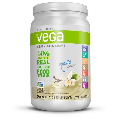 Vega Essentials Vegan Protein Powder Shake - Vanilla - 21.9oz - image 1 of 3