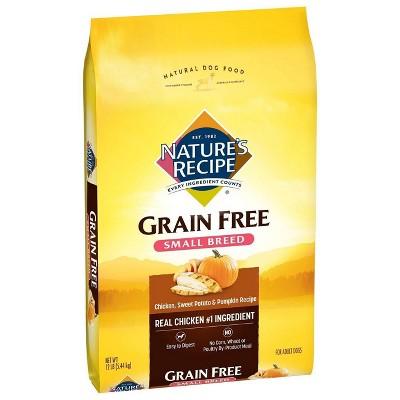 Nature's Recipe Grain Free Chicken, Sweet Potato & Pumpkin Recipe Small Breed Adult Dry Dog Food