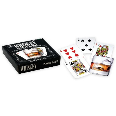 Gamago Whiskey Glass-Shaped Playing Cards | 52 Card Deck + 2 Jokers