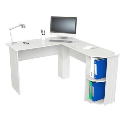 L Shaped Writing Desk Light Washed - Inval