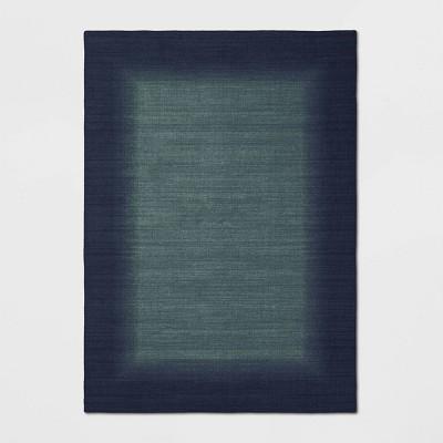 5'X7' Good Fashion Border Rug Blue - Room Essentials™