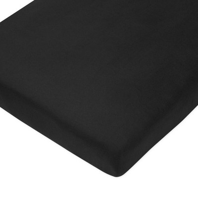 Honest Baby Organic Cotton Fitted Crib Sheet - Black