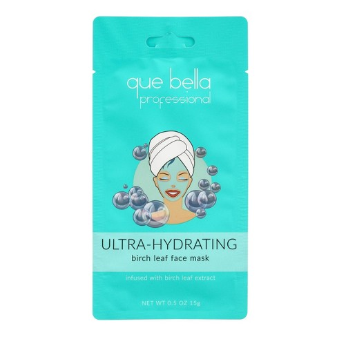 Que Bella Professional Ultra Hydrating Birch Leaf Water Moisture Face Mask - 0.5oz - image 1 of 3