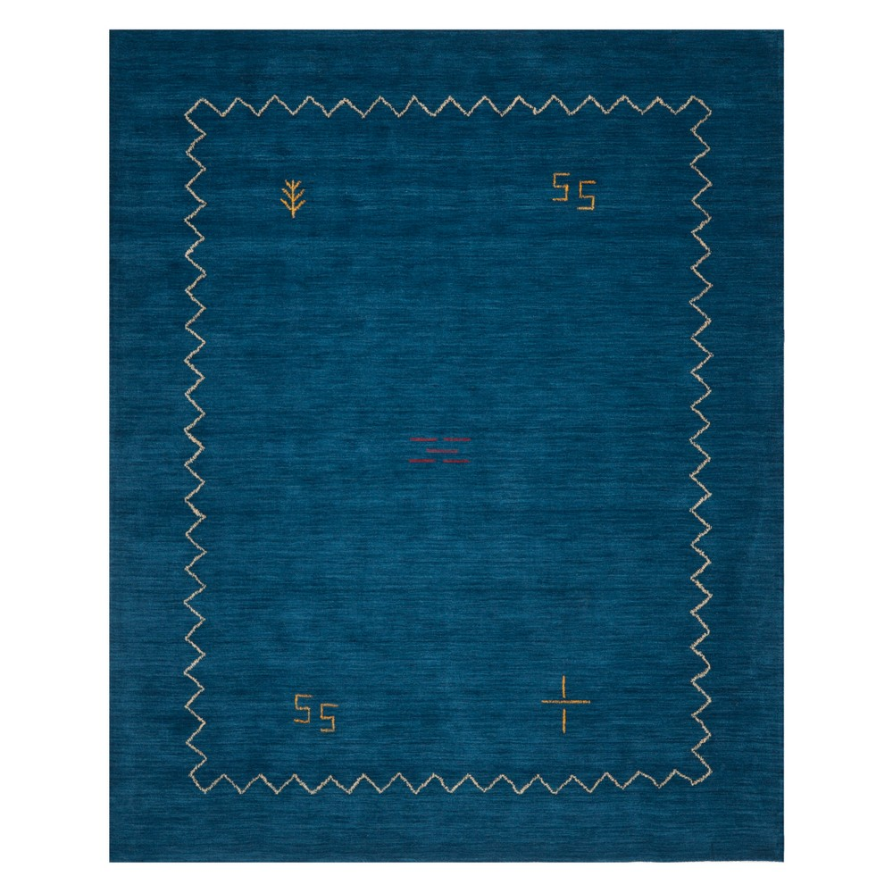 Tribal Design Loomed Area Rug Blue
