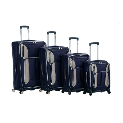 Rockland Impact 4pc Spinner Luggage Set - Navy