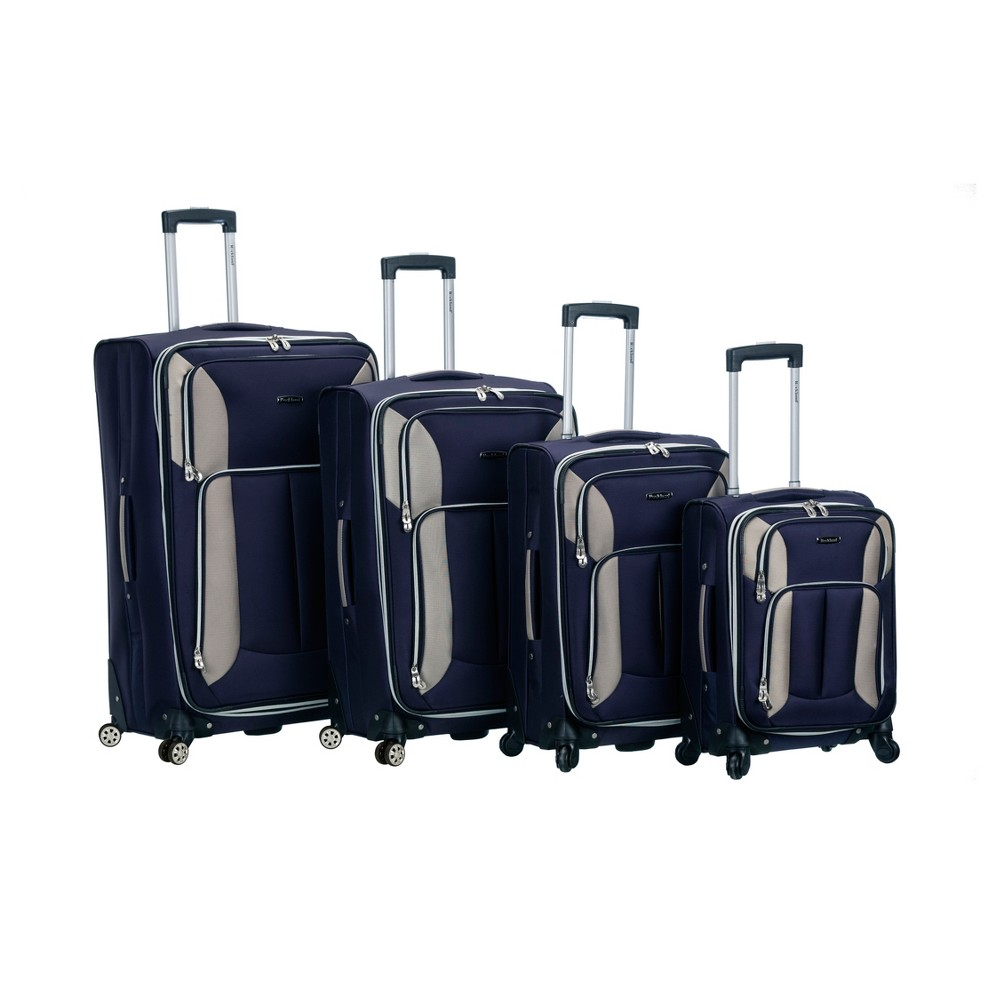 Rockland Impact 4pc Spinner Luggage Set - Navy (Blue)