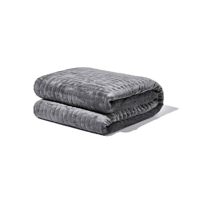 "48"" x 72"" 20lb Weighted Blanket with Removable Cover Gray - Gravity"