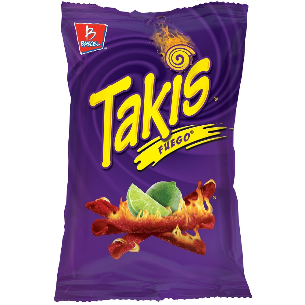 Barcel Takis Fuego Hot Chili Pepper & Lime Corn Snacks - ...