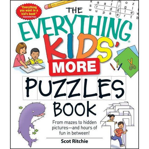 The Everything Kids' More Puzzles Book - (Everything(r) Kids) by  Scot Ritchie (Paperback) - image 1 of 1