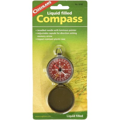 Coghlan's Liquid Filled Pocket Compass with Case, Survival Camping Outdoors