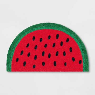 "1'6""x2'6"" Watermelon Half Circle Coir Doormat Green - Sun Squad™"