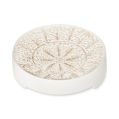 Carved Medallion Soap Dish White - Opalhouse™