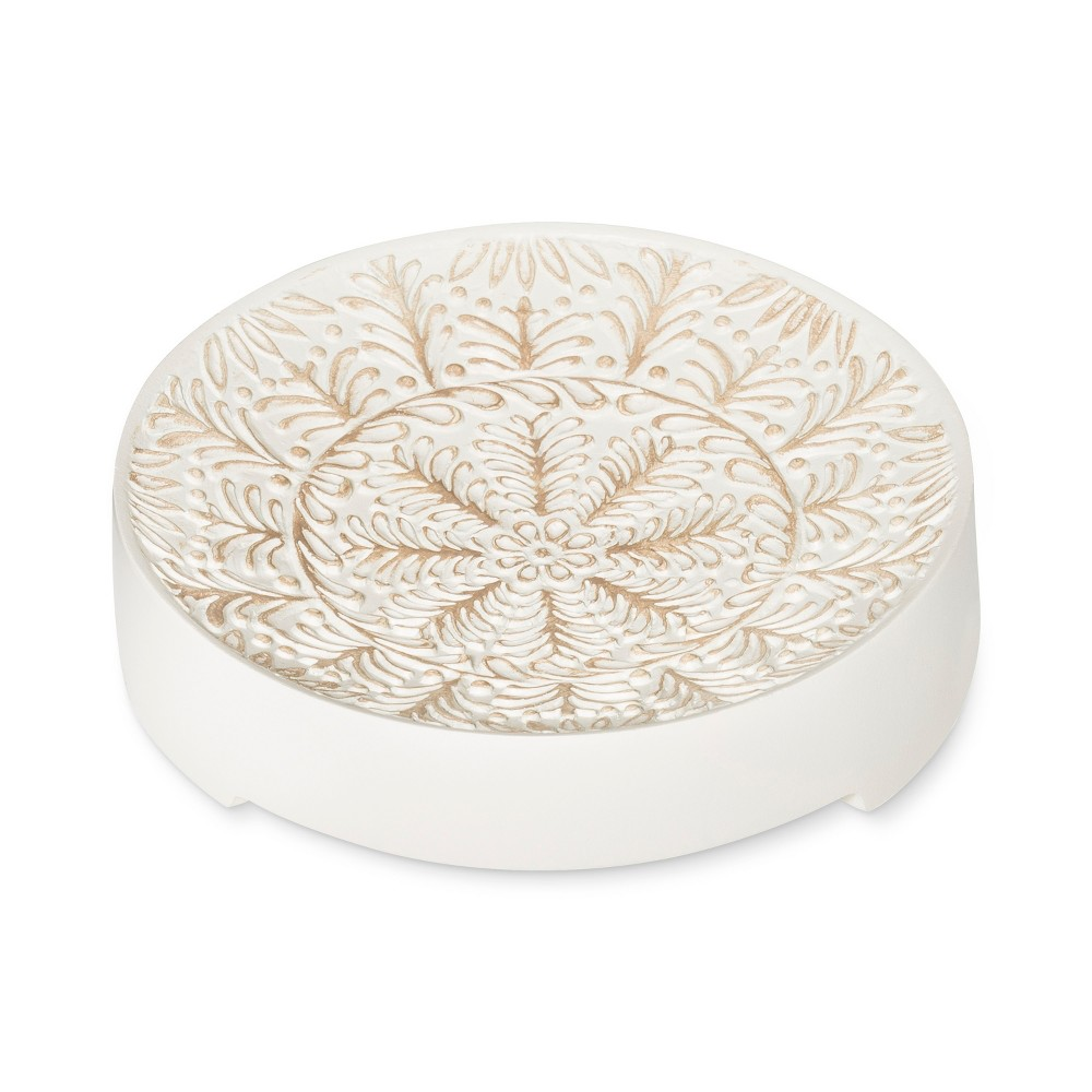 Image of Carved Medallion Soap Dish White - Opalhouse