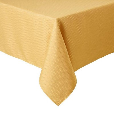 """60""""X84"""" Mckenna Tablecloth Gold - Town & Country Living"""