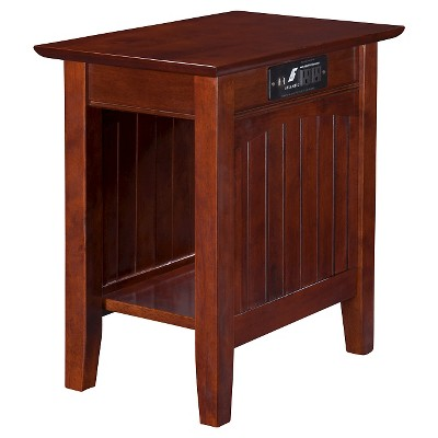 Atlantic Furniture Nantucket Chair Side Table with Charger