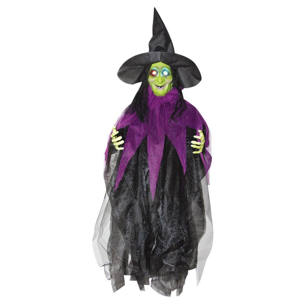 Halloween 3' Hanging Light up Witch, Multi-Colored