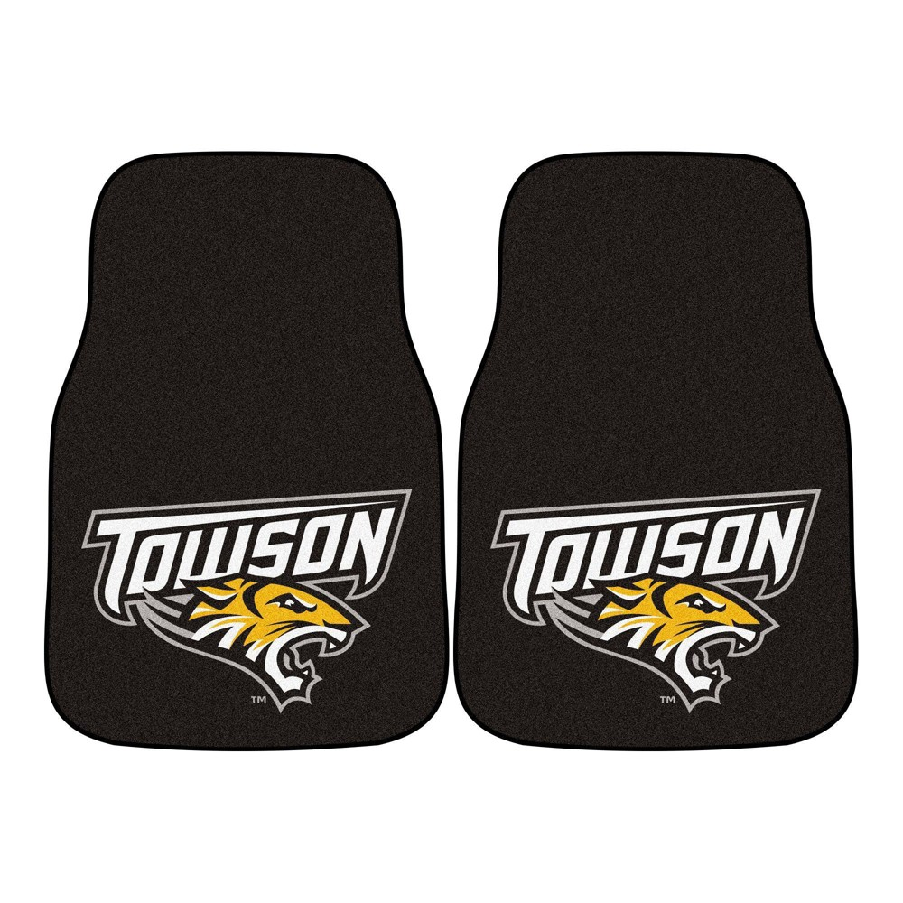 Ncaa University Of Towson Tigers Carpet Car Mat Set 2pc