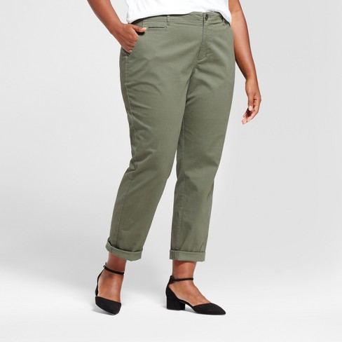 2a52d8986ae6f Women s Plus Size Slim Chino Pants - A New Day™   Target