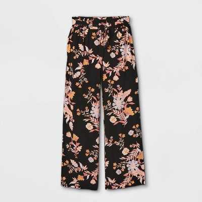 Girls' Straight Challis Tie-Waist Pants - art class™