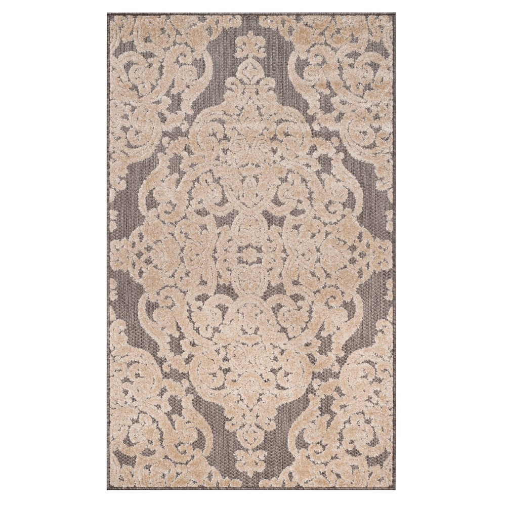 Taupe (Brown) Lace Loomed Accent Rug 4'X6' - Safavieh