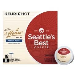 Seattle's Best Coffee House Blend Medium Roast Coffee - Keurig K-Cup Pods - 18ct