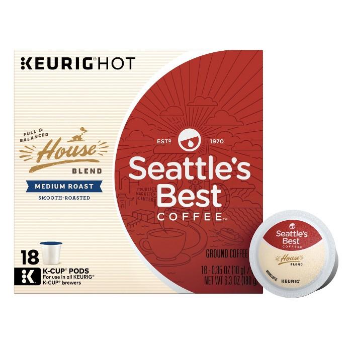 Seattle's Best Coffee House Blend Medium Roast Coffee - Keurig K-Cup Pods - 18ct - image 1 of 2