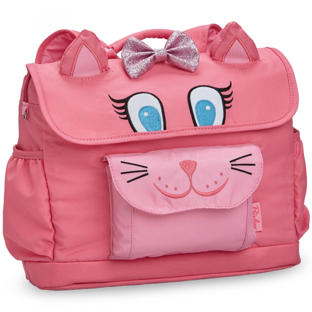 "Image of ""Bixbee 10"""" Kids' Kitty Backpack - Pink, Girl's, Size: Small"""