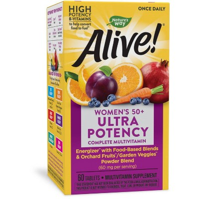 Nature's Way Alive! Womens 50+ Ultra Potency Multivitamin Tablets - 60ct